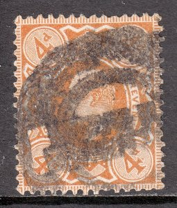 Great Britain - Scott #144 - Used - Pencil/rev., short perf - SCV $12.00