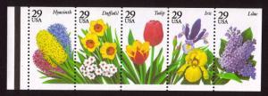 MALACK 2764a, 29c Garden Flowers,  Booklet Pane n4935