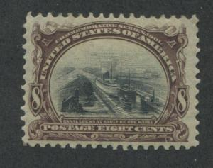 1901 US Stamp #298 8c Mint Hinged VF Original Gum Pan-American Exposition Issue