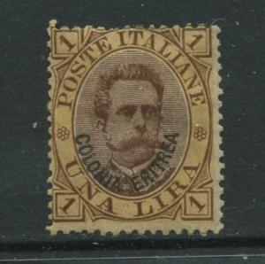 STAMP STATION PERTH Eritrea #10 King Humbert I Italy Overprint1892 MH CV$160.00