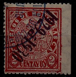 Honduras 264 used, inverted ovpt