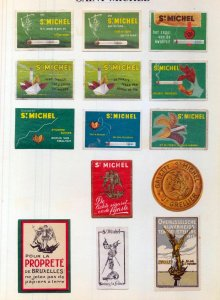 France Azores Germany Early/Mid Poster Labels MH Unused x 65 (NT 3310