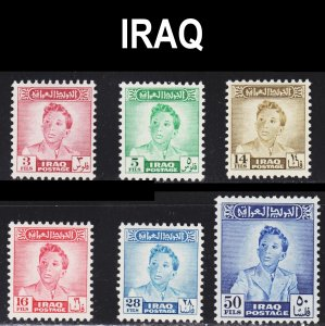 Iraq Scott 133-38 complete set F to VF mint OG H.