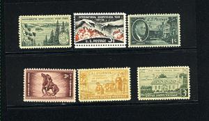 USA #930, 973, 997,  1106, 1107, 1108,  Mint NH VF  PD .90