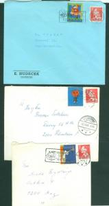 Denmark. 3 Covers 1968-1969-1970. With Christmas Seal. Postal Used.