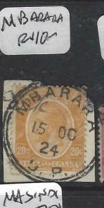 KENYA, UGANDA (P3105B) KGV CANCELS. NI LASIMA TAZAMA!!  MBARARA   CDS  VFU