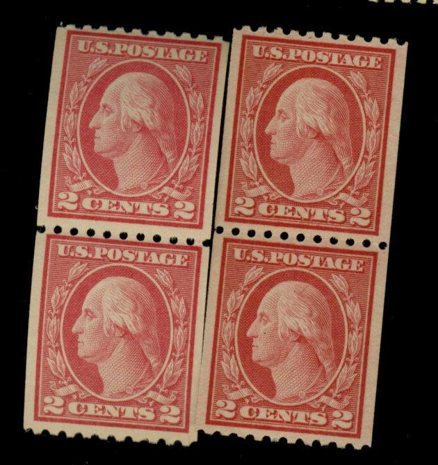 487-88 MINT Pairs F-VF OG 487 NH 488 LH Cat$73