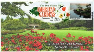 20-125, 2020, American Gardens, Digital Color Postmark, First Day Cover, Chicago
