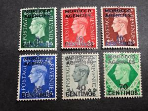 Great Britain Offices in Morocco Scott 83-88 Mint OG CV $43.15