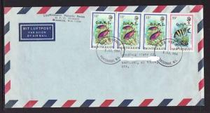 Montserrat to Hartland WI 1984 Official Airmail Cover