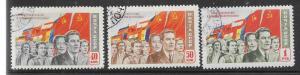 Russia #1488-1490 Socialist People & Flags complete set   (U)  $1.05