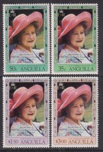1980 Anguilla QE 80th Birthday complete set MNH Sc# 394 / 397 CV: $4.00