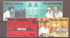 PITCAIRN ISLANDS SG500/3 1996 AMATEUR RADIO MNH