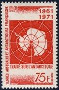 Scott #45 Map of Antarctica MNH