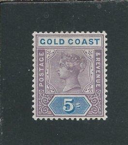 GOLD COAST 1889-94 5s DULL MAUVE & BLUE MM SG 22 CAT £85