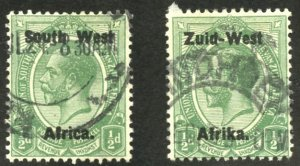 South West Africa Scott 1a, 16a - UFH - SCV $5.35