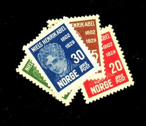 Norway #145-8 MINT VF OG NH Cat $40