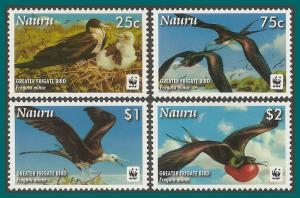 Nauru 2008 Greater Frigate Bird, MNH 589-592,SG681-SG684