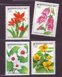 J23393 JLstamps 1997 south korea set mnh #1907-10 flowers