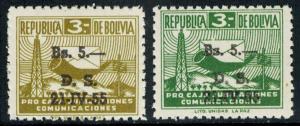 Bolivia Scott RA21-RA22 Mint never hinged.