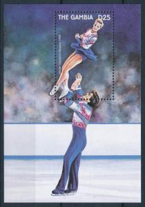 [75421] Gambia 1997 Olympic Winter Games Figure Skating Souvenir Sheet MNH
