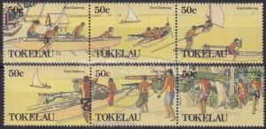Tokelau Islands stamp Food purchases set stripes of 3 1989 MNH WS180909