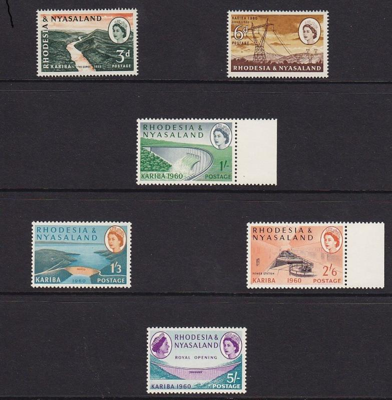 Nyasaland scott # 172 - 177 Set VF mint never hinged scv $ 19 ! see pic !