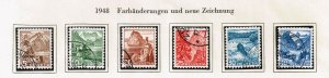 Switzerland Stamp 1948 Landscapes - New Colors USED STAMPS SET