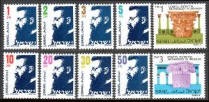 Israel 922-931, MNH. Theodor Herzl; Capital, Second Temple, Jerusalem, 1986