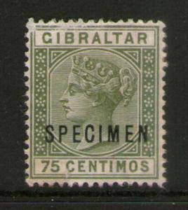 Gibraltar 1889 SG 29 SPECIMENT