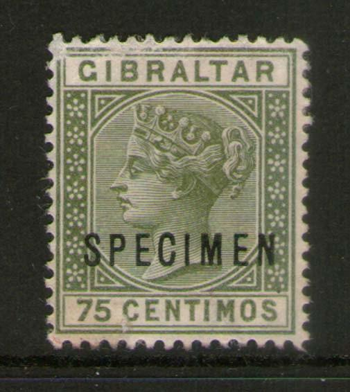 Gibraltar 1889 SG 29 SPECIMENT