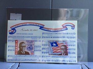 Republic of Liberia President Truman's 70th Birthday MNH stamps sheet R26972