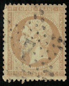 France, 1862-1871 Emperor Napoléon III, Perforated, MC #20 (4337-Т)