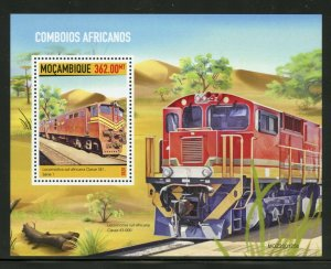 MOZAMBIQUE 2020  AFRICAN TRAINS SOUVENIR  SHEET MINT NH