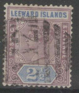 LEEWARD ISLANDS SG3 1890 2½d DULL MAUVE & BLUE USED