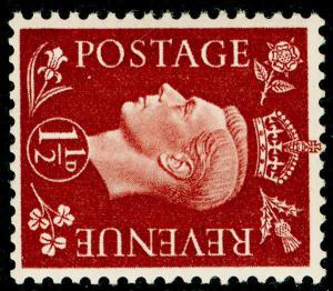SG464a, 1½d red-brown, NH MINT. WMK SIDE