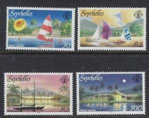 Seychelles 634-37 MNH 1988 Beach Scenes (ap6479)