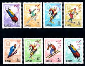 [43048] Ajman 1967 Olympic Winter Games Grenoble Skiing Icehockey Skating MNH