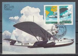 Brazil, Scott cat. 1925 A. Brazil Air Service issue. Maximum Card.