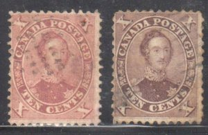 Canada #17 + 17ii (Very thick paper) Used C$990.00