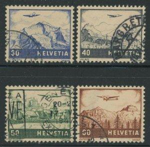 Switzerland 1941 Airmail set Sc# C27-34 used