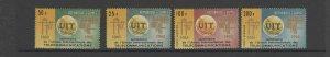 GUINEA #380-381, C73-C74  1965  ITU CENTENARY      MINT  VF NH  O.G