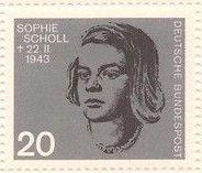 Germany 883 Nazi Resistance Portraits MNH 1964 Sophie Scholl