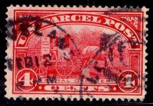 US Stamp #Q4 4c Carmine Rose Parcel Post USED SCV $3.00