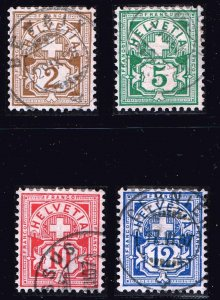 Switzerland Stamp 1905 Helvetia - Cross & Shield used stamps lot