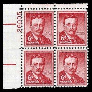 PCBstamps      US #1039a PB 24c(4x6c)T. Roosevelt, (26005), MNH, (UR)