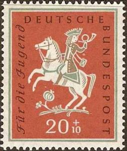 Germany - #B361 - MH - 1958 - The Fox Who - SCV-$3.00
