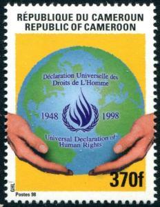 HERRICKSTAMP CAMEROUN Sc.# 918 Human Rights Mint NH
