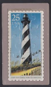 Cape Hatteras Lighthouse USPS Postcard Puzzle (Scott 2471)