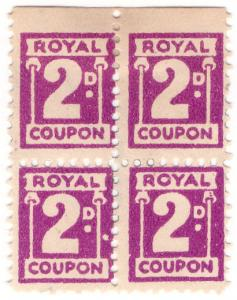 (I.B) Cinderella Collection : Royal Trading Stamp 2d
